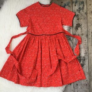 Other - RED HANDMADE DRESS SZ 4 kids